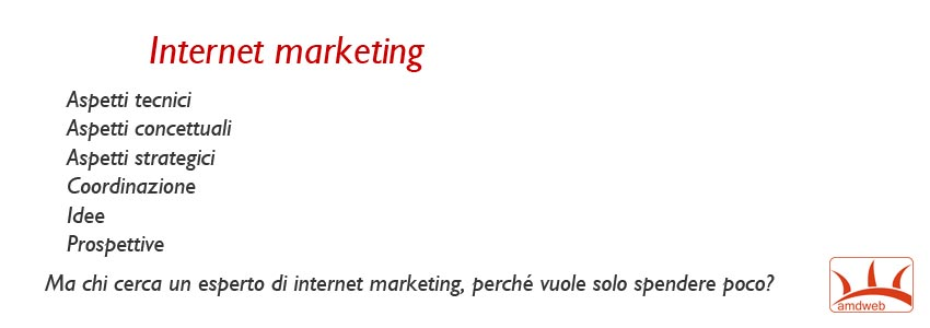 internet marketing, una strategia vista da molte angolazioni