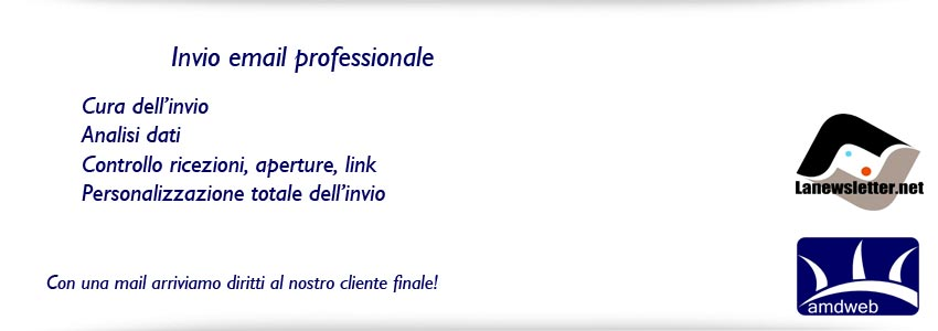 invio email professionale lanewsletter come strumento, amdweb come strategia
