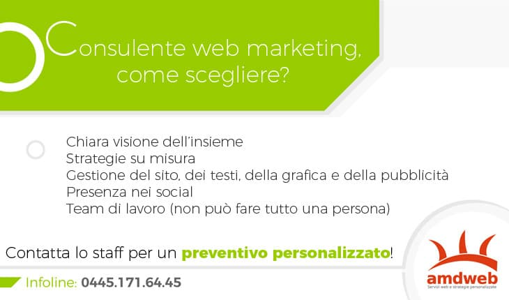 Consulente web marketing, come scegliere?