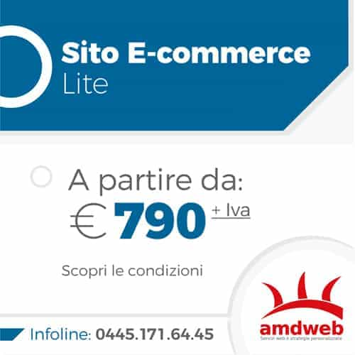 Sito E-commerce Lite, da 590 euro