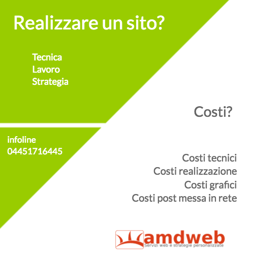 Cose importanti in un sito, costi | amdweb.it
