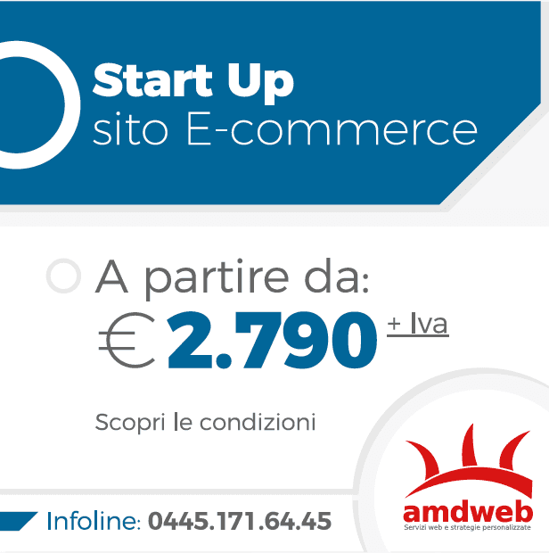 Start up sito store da 2790 euro | amdweb.it