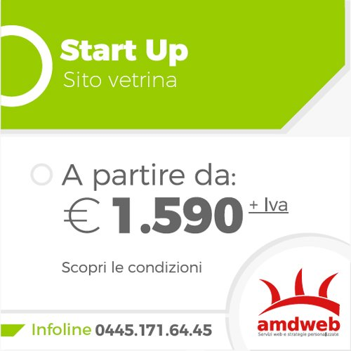 Start up sito vetrina da 1590 euro | amdweb.it