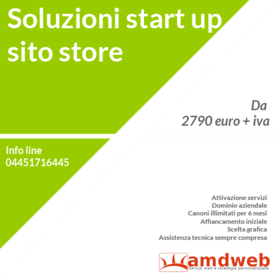costo start up sito e-commerce | amdweb.it